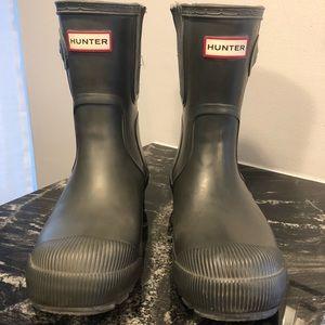 Hunter original grey short rain boots
